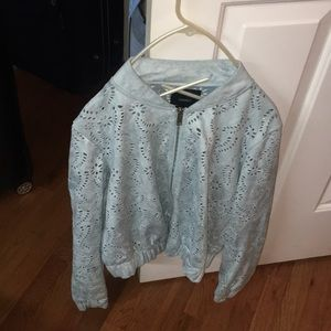 A light blue jacket from forever 21